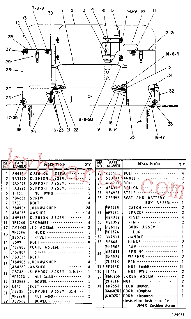 CAT 9F-5644 for 365C L Excavator(EXC) chassis and undercarriage 3S-7324 Assembly