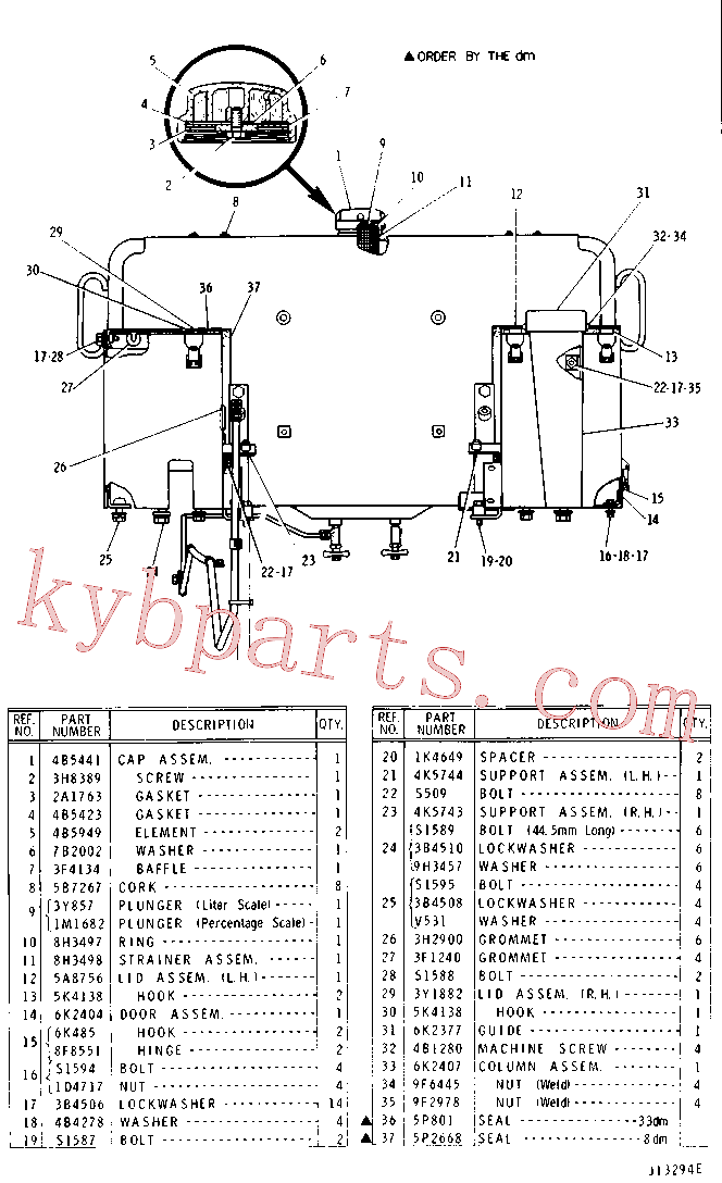 CAT 1K-4703 for 6 Ripper(TTT) fuel system and governor 1V-0483 Assembly