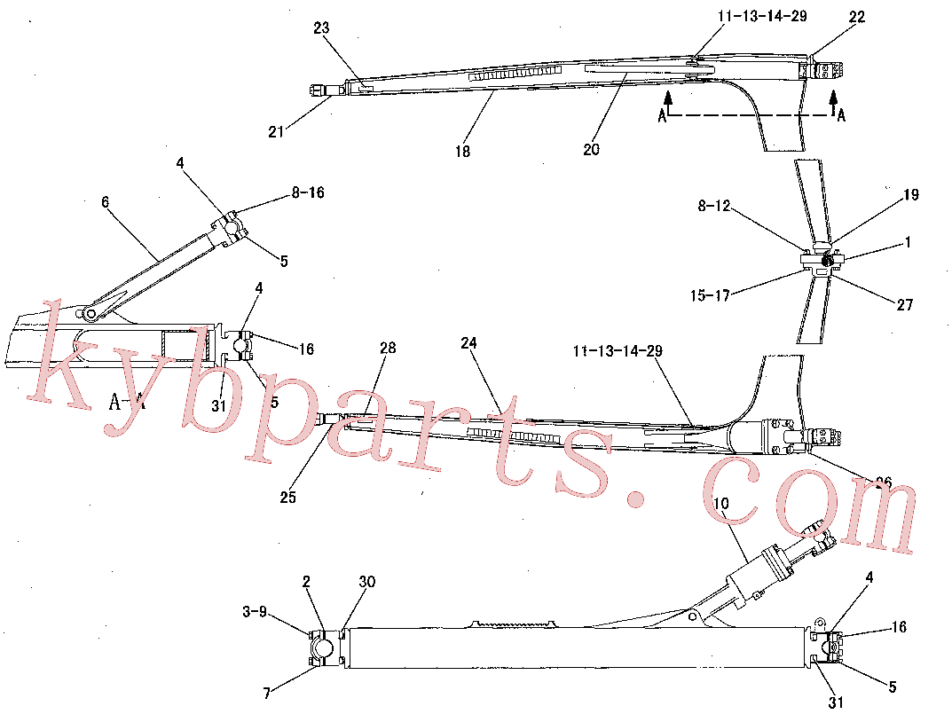 CAT 8T-4131 for 345B Excavator(EXC) implements 223-4004 Assembly
