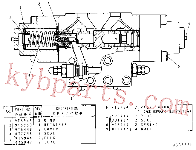 CAT 4J-0528 for D7R Track Type Tractor(TTT) hydraulic system 9T-4789 Assembly