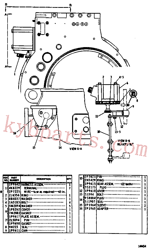 CAT 3F-0957 for 983 Track Loader(TTL) transmission and chassis 2P-5871 Assembly