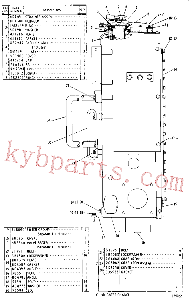 CAT 9M-7394 for 769 Truck(OHT) hydraulic system 8D-5050 Assembly
