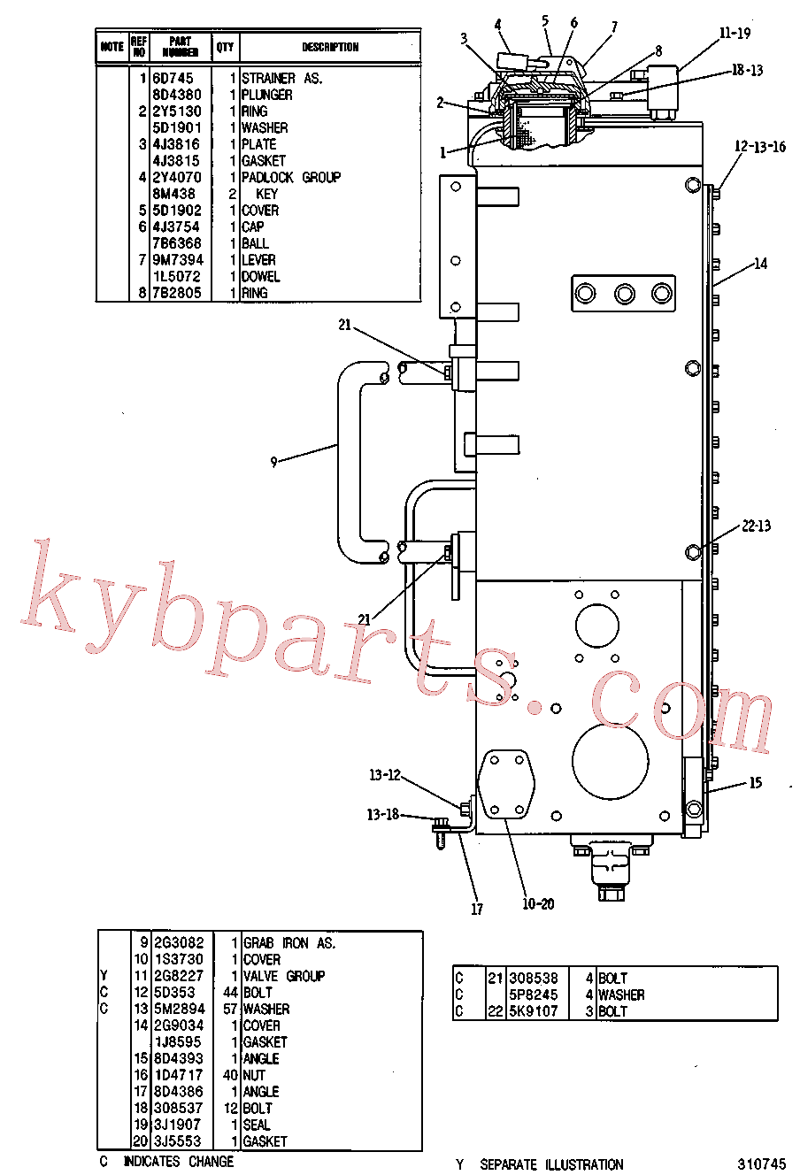 CAT 9M-7394 for 4P Bulldozer(TTT) hydraulic system 2G-6580 Assembly