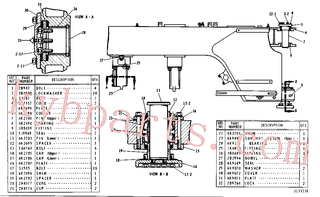 CAT 3B-8485 for 627E Wheel Tractor(WTS) frame and chassis 6K-2929 Assembly