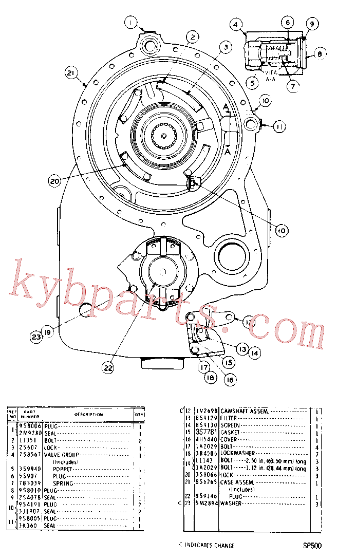 CAT 3K-5801 for 215D Excavator(EXC) power train-power transmission unit 7S-7005 Assembly