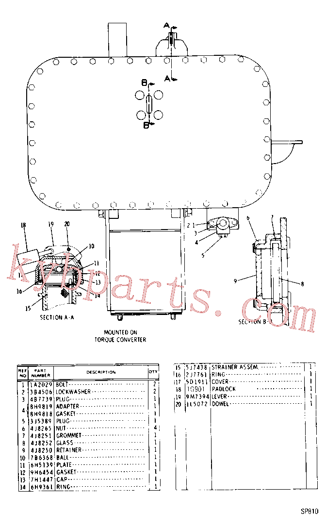 CAT 9M-7394 for 4P Bulldozer(TTT) chassis and undercarriage 9D-2645 Assembly