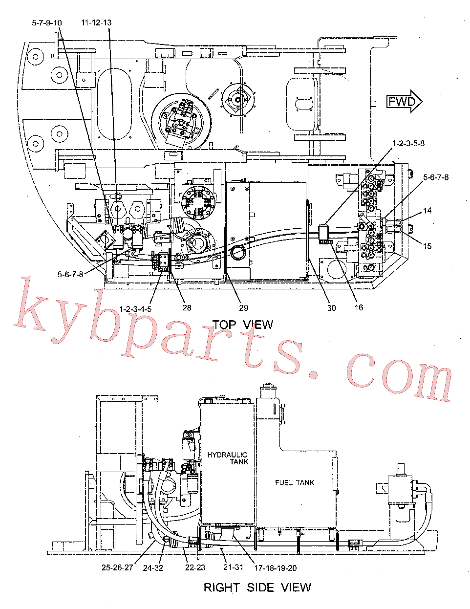 CAT 213-9601 for 325C Excavator(EXC) hydraulic system 231-8431 Assembly