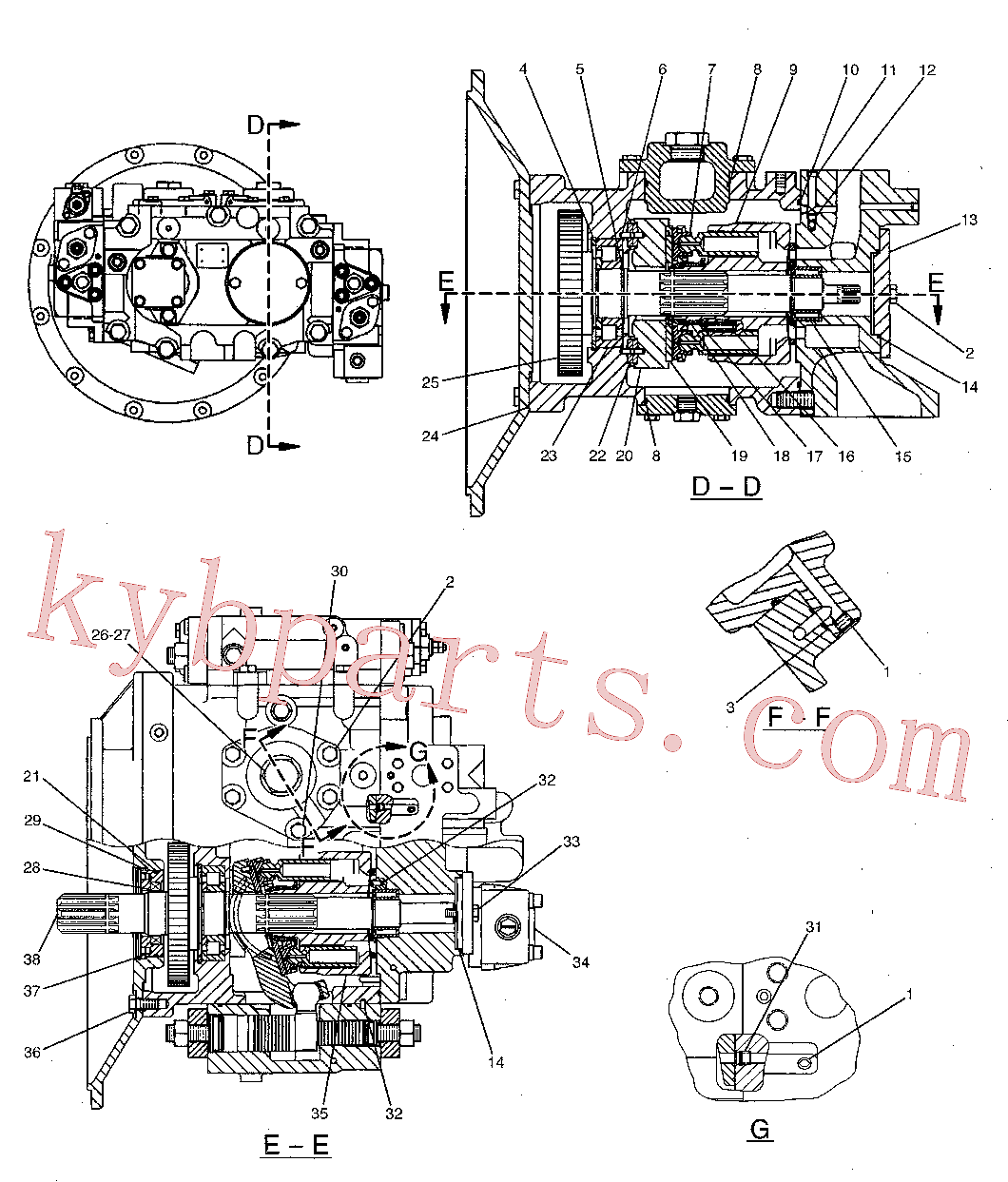 CAT 095-0946 for 326D2 Excavator(EXC) hydraulic system 173-3381 Assembly