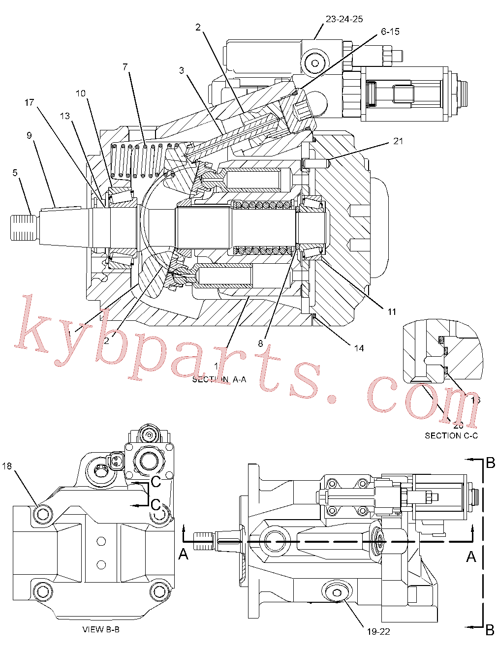 CAT 189-4717 for 365B II Excavator(EXC) hydraulic system 312-5648 Assembly
