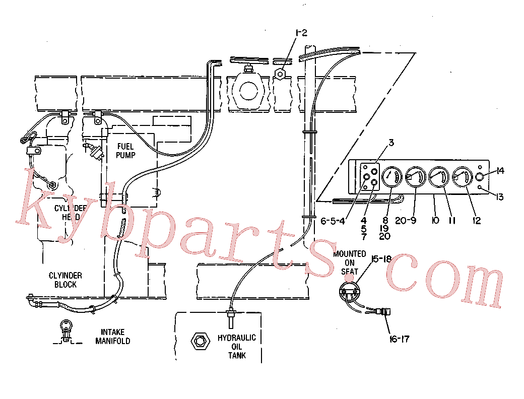 CAT 8S-1815 for 345B Excavator(EXC) cab, gauges and accessories 3V-1930 Assembly