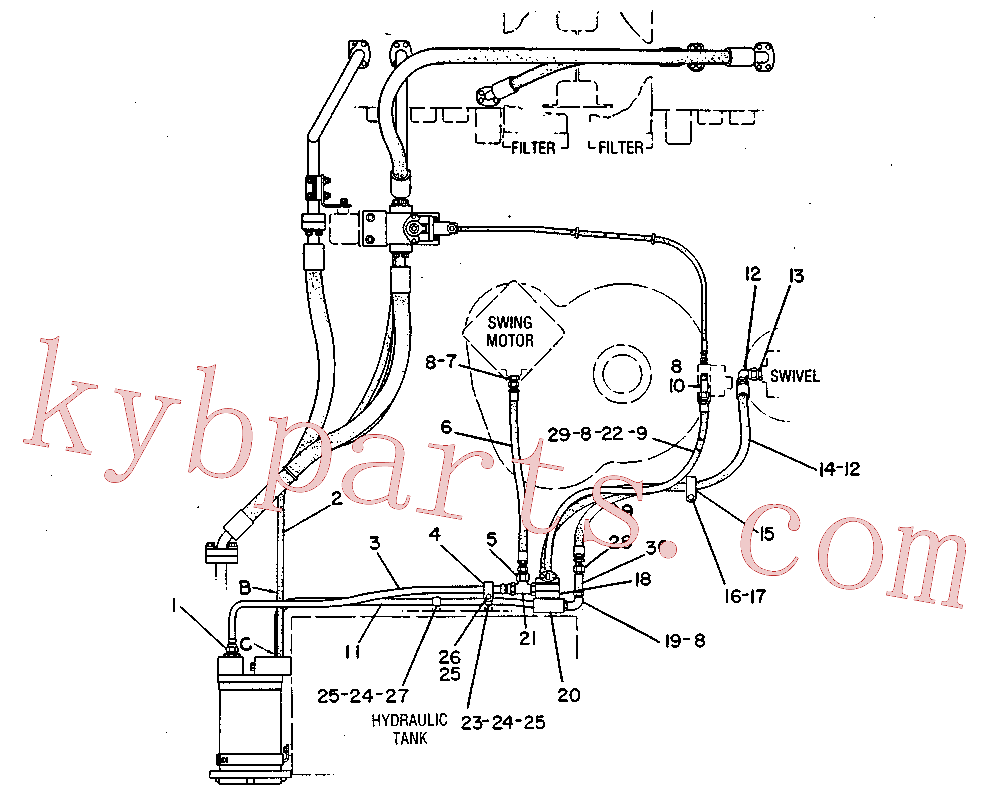 CAT 6E-0923 for 235C Front Shovel(EXC) hydraulic system 4V-9255 Assembly