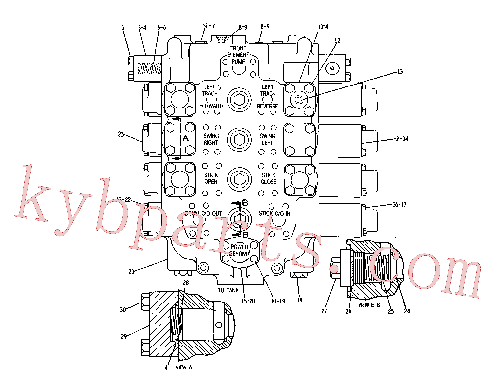 CAT 4T-0400 for 215 Excavator(EXC) hydraulic system 3G-8125 Assembly