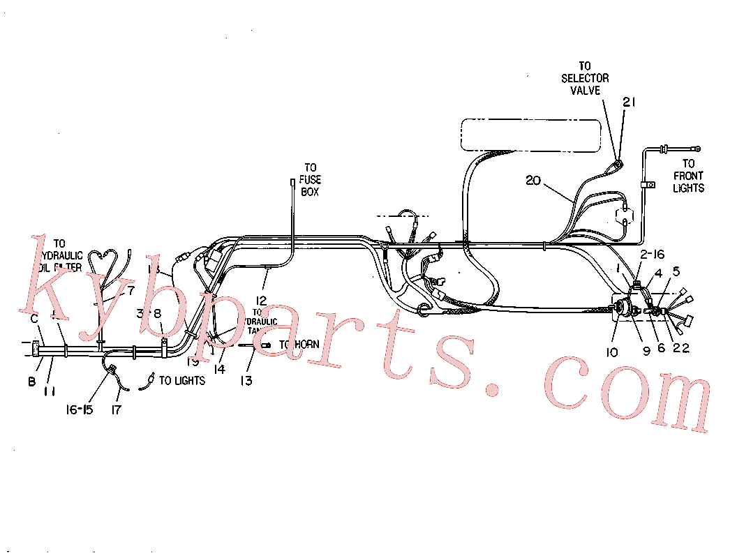 CAT 5P-8939 for 140M 3 AWD Motor Grader(MG) starting and electrical system 6C-0388 Assembly