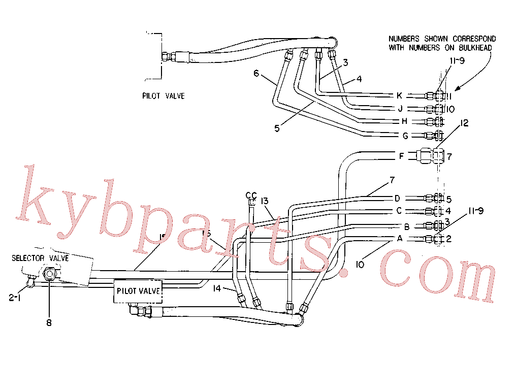 CAT 8J-4491 for 219D Excavator(EXC) hydraulic system 8V-8315 Assembly