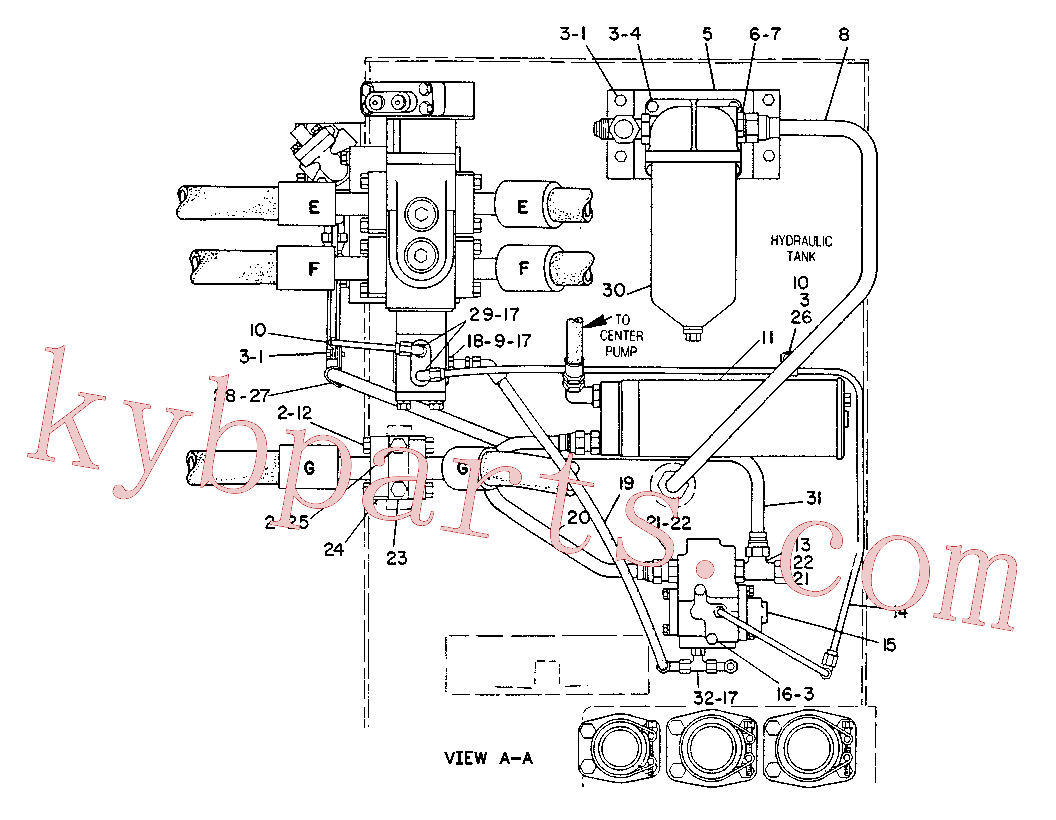 CAT 9J-7278 for 245 Excavator(EXC) hydraulic system 6C-2161 Assembly