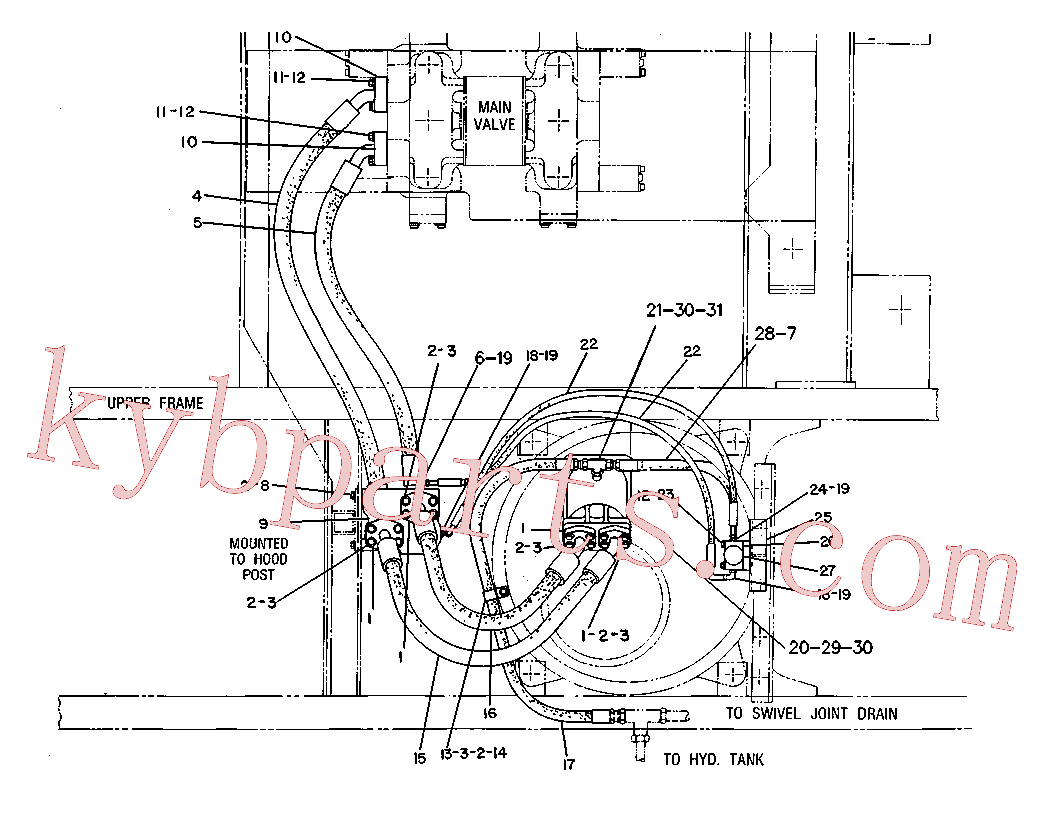 CAT 7T-9342 for M315 Excavator(EXC) hydraulic system 6W-1343 Assembly