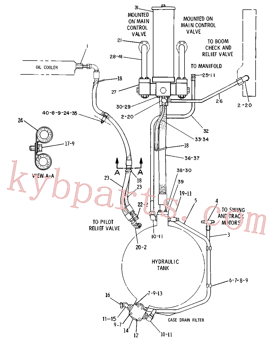 CAT 5J-2926 for 235D Excavator(EXC) hydraulic system 5C-0383 Assembly