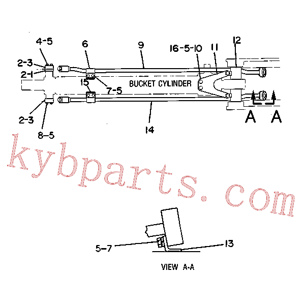 CAT 7X-0307 for 219 Excavator(EXC) hydraulic system 5C-5788 Assembly