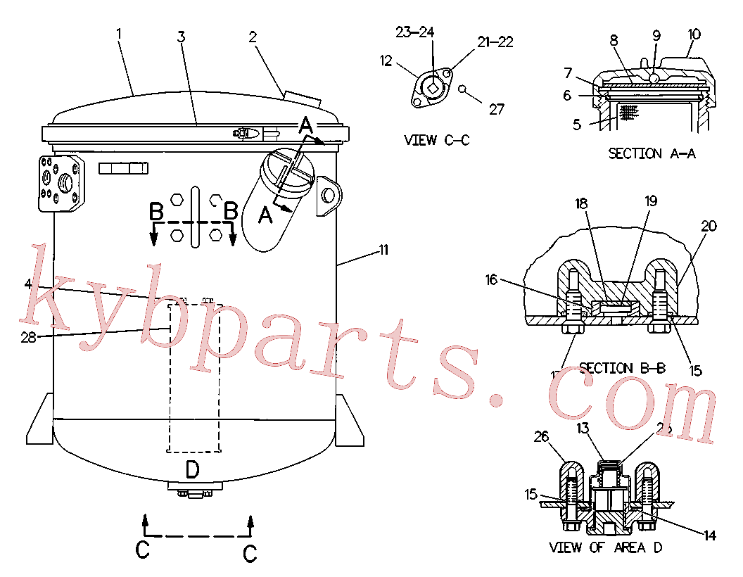 CAT 8J-8782 for 826K Landfill Compactor(COM) hydraulic system 6A-4501 Assembly