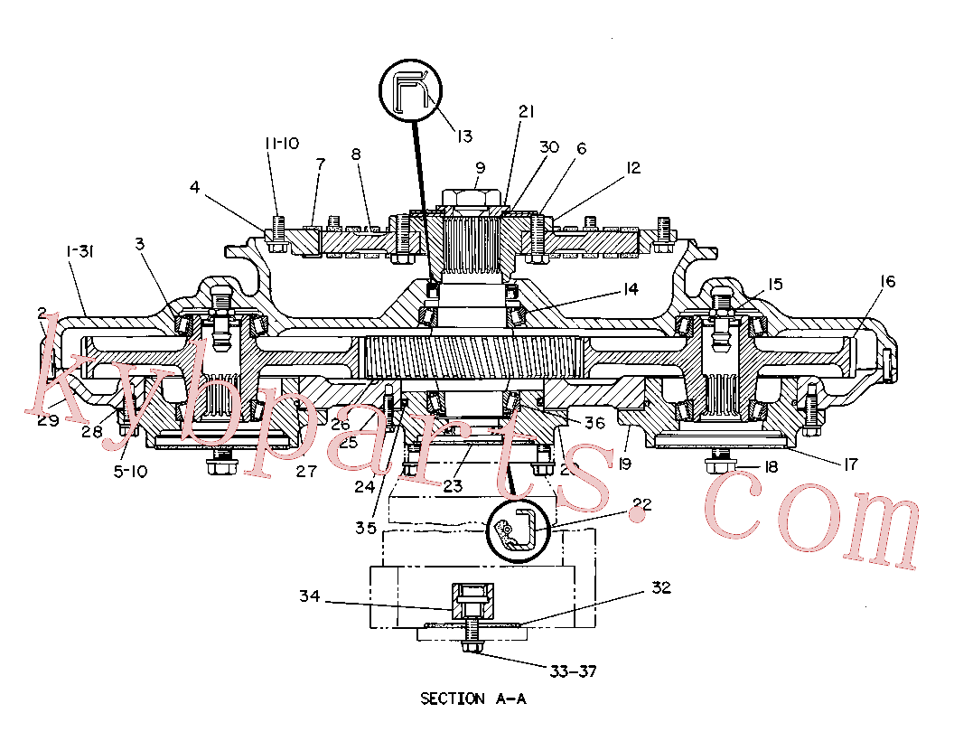 CAT 374-8345 for 235 Excavator(EXC) power train 8R-7811 Assembly