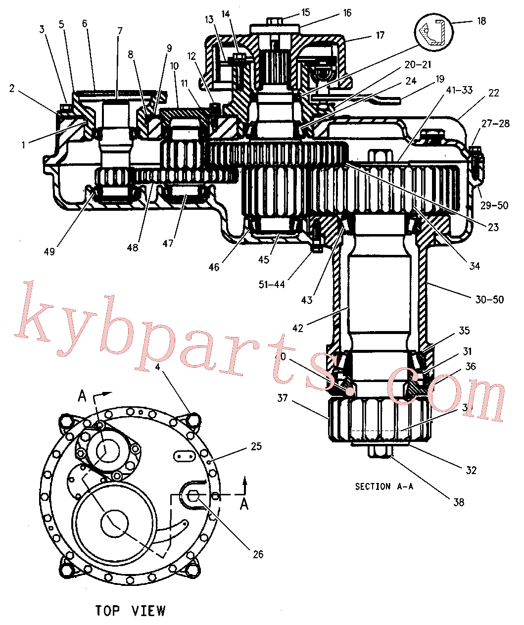CAT 5K-1078 for 219 Excavator(EXC) power train 6W-1482 Assembly