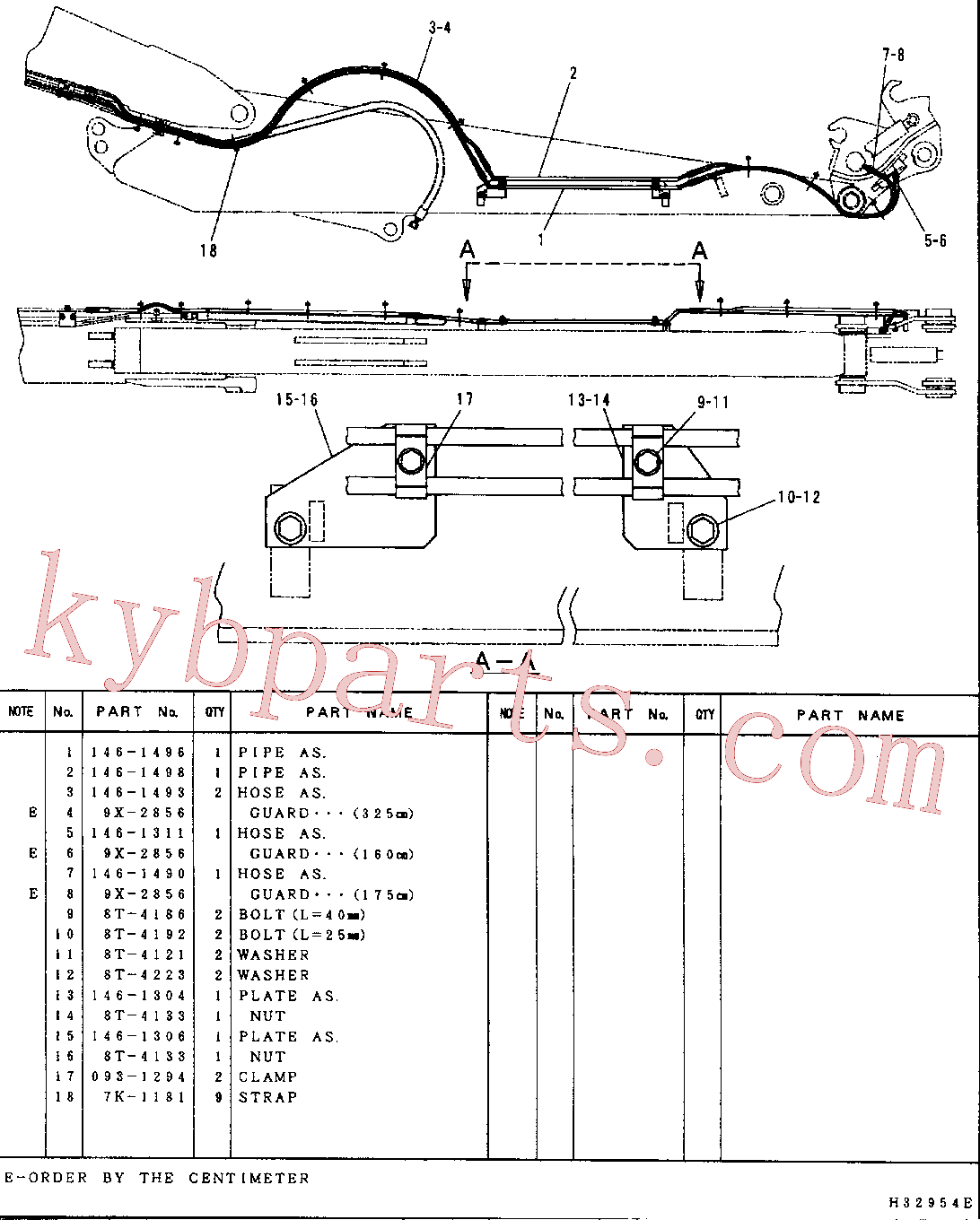 CAT 146-1311 for 312B L Excavator(EXC) hydraulic system 146-1478 Assembly