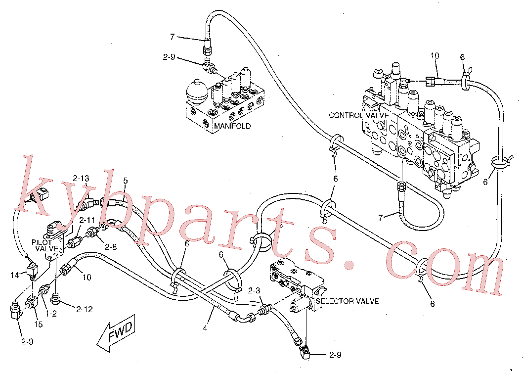 CAT 106-0181 for 312B Excavator(EXC) hydraulic system 119-2746 Assembly