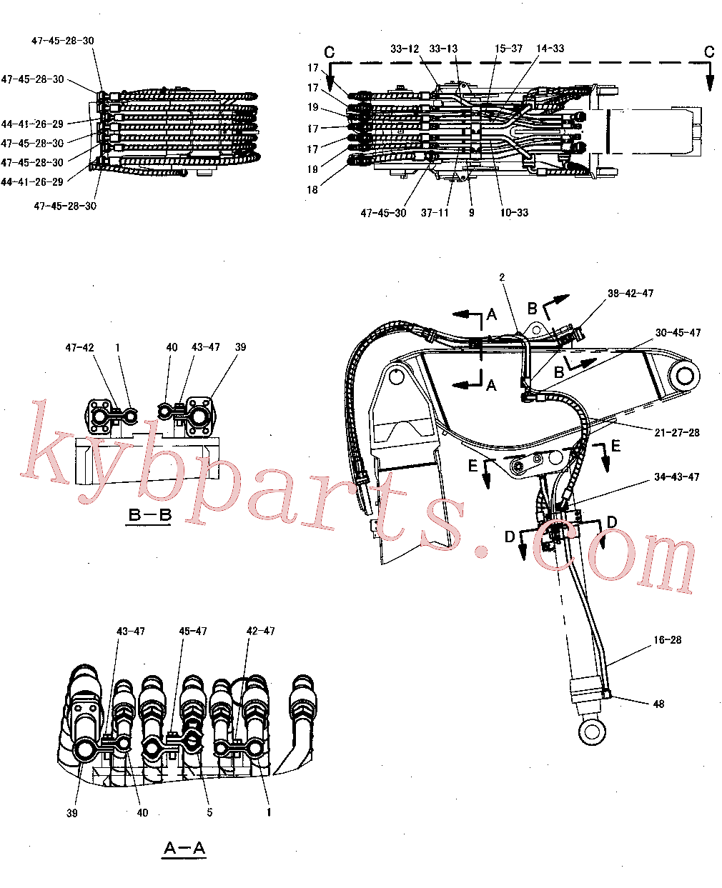CAT 7Y-4038 for 325-A LN Excavator(EXC) hydraulic system 300-8170 Assembly