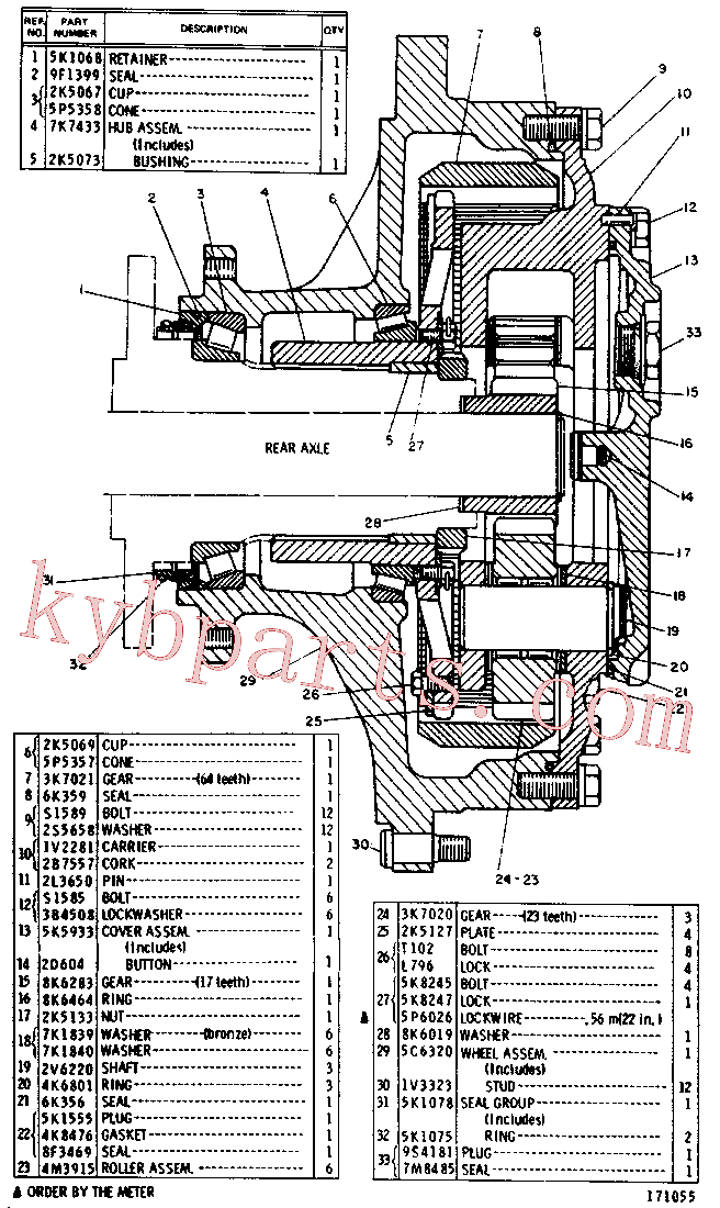 CAT 5K-1078 for 245 Excavator(EXC) power train-power transmission unit 5C-6321 Assembly