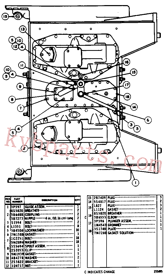 CAT 0L-0827 for 572F Pipelayer(PIPE) chassis and undercarriage 3S-2035 Assembly