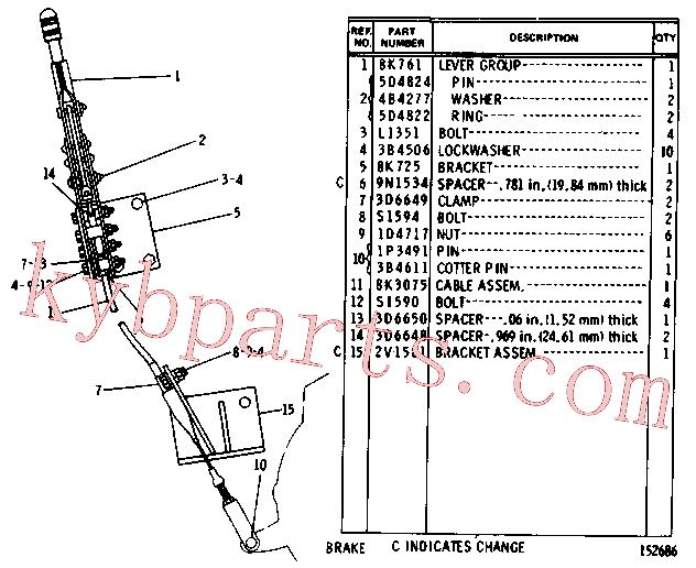 CAT 5D-4822 for 336D2 XE Excavator(EXC) chassis and undercarriage 8K-1591 Assembly