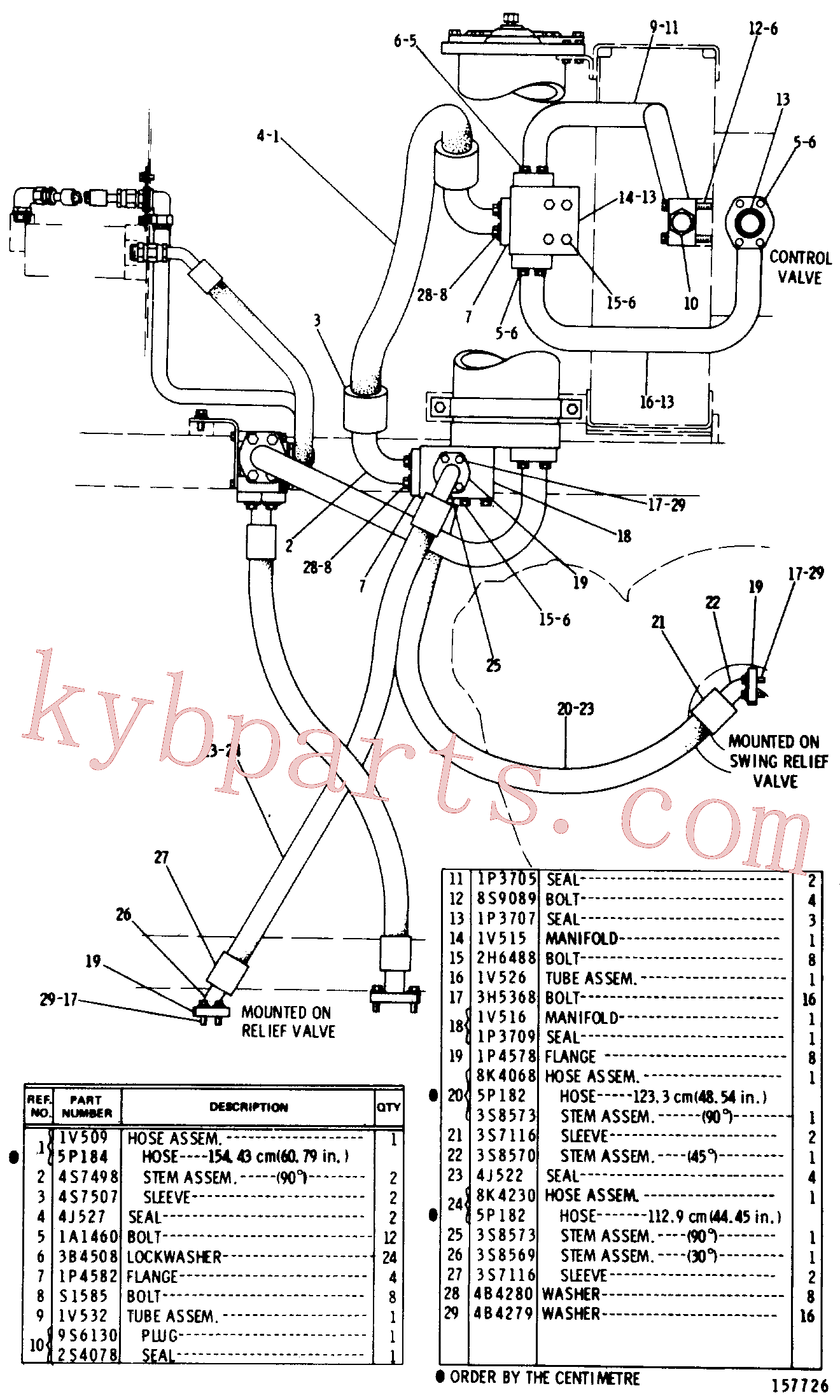 CAT 6E-0923 for 623B Wheel Tractor(WTS) hydraulic system 8K-2630 Assembly