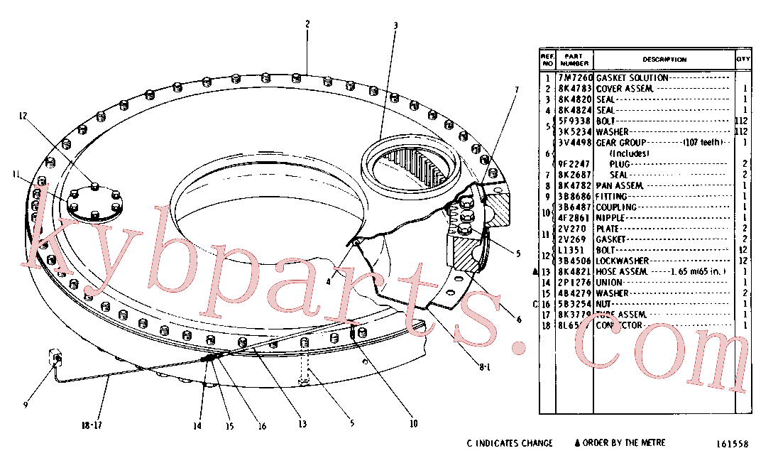 CAT 5B-3254 for D8K Track Type Tractor(TTT) chassis and undercarriage 3V-4529 Assembly