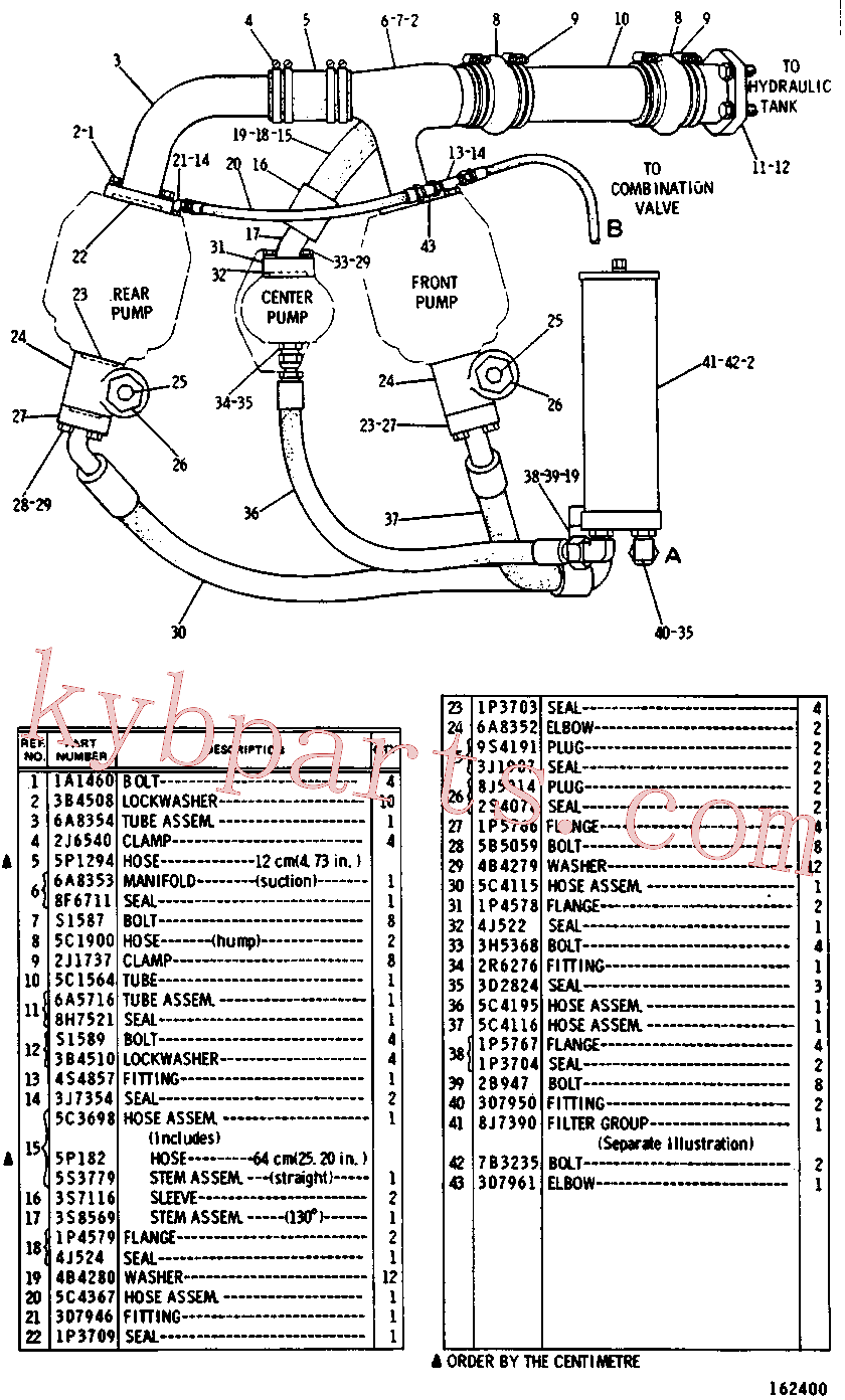 CAT 1K-4066 for 215B Excavator(EXC) hydraulic system 5C-0382 Assembly