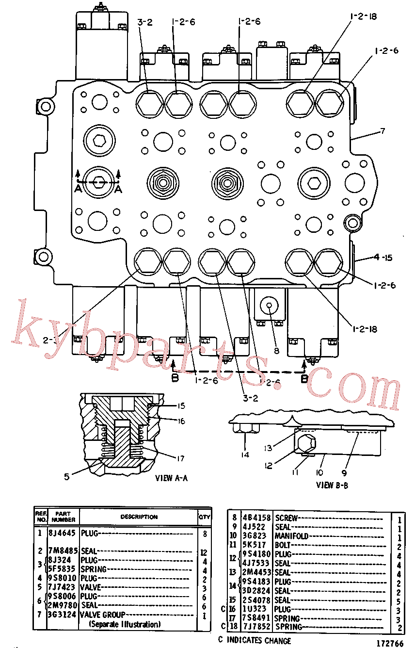 CAT 8J-1590 for 227 Logger(FP) hydraulic system 3G-3125 Assembly