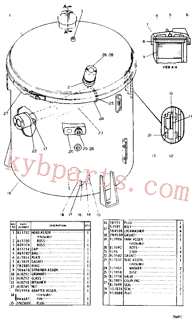 CAT 8J-8782 for 589 Pipelayer(PIPE) hydraulic system 9J-7907 Assembly