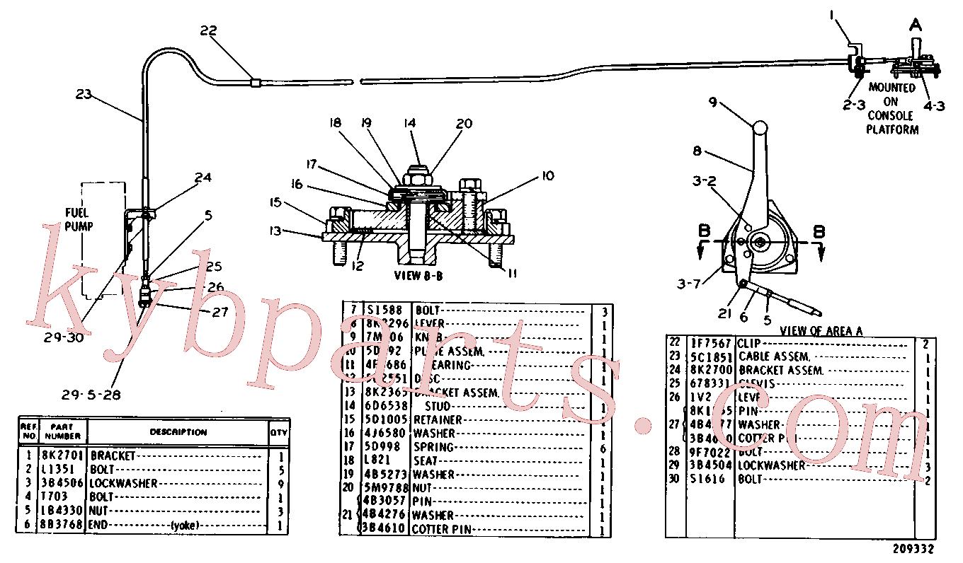 CAT 1F-7567 for 637E Wheel Scraper(WTS) fuel system and governor 5C-1341 Assembly
