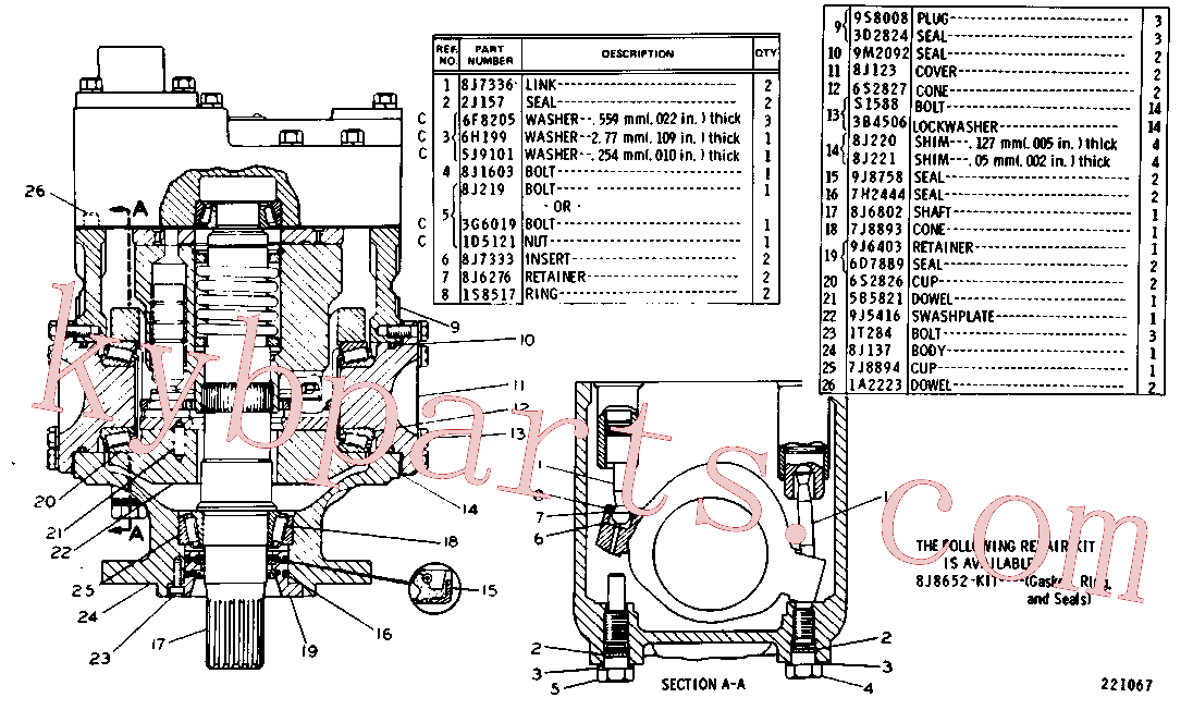 CAT 8J-0220 for 235D Excavator(EXC) hydraulic system 8J-1905 Assembly
