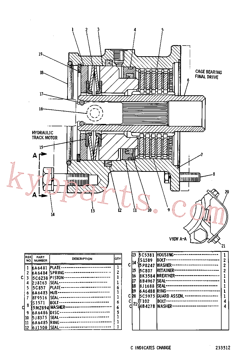 CAT 6A-6488 for 215B Excavator(EXC) power train 5C-5384 Assembly