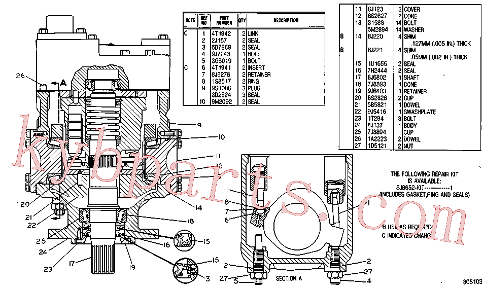 CAT 8J-0220 for 235B Excavator(EXC) hydraulic system 1U-4722 Assembly