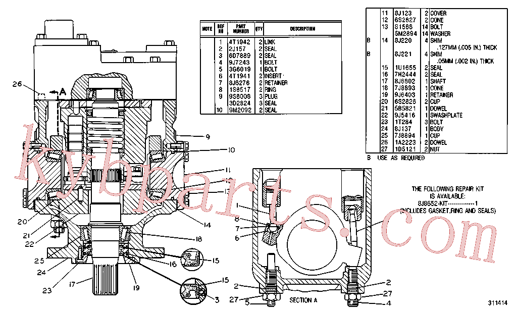 CAT 8J-0220 for 235C Excavator(EXC) hydraulic system 4T-7026 Assembly