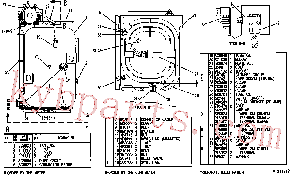 CAT 8S-1815 for 320N Excavator(EXC) fuel system and governor 5C-9941 Assembly