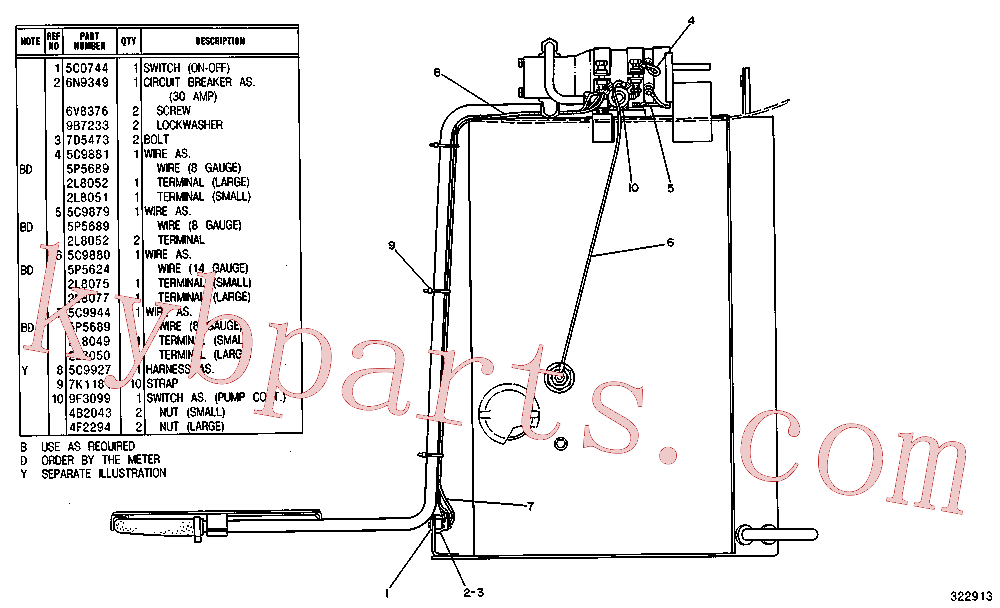 CAT 8S-1815 for 312C Excavator(EXC) fuel system and governor 5C-9945 Assembly