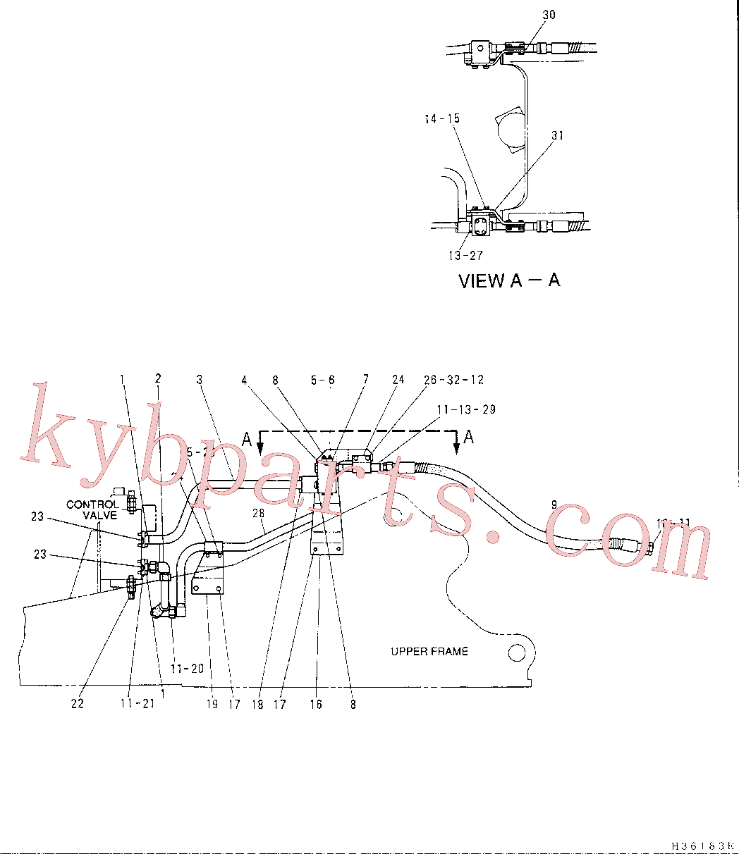 CAT 5I-8686 for 320-A S Excavator(EXC) hydraulic system 5I-3075 Assembly