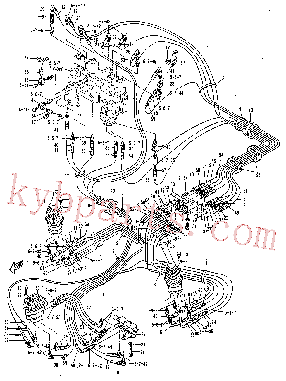 CAT 099-0365 for 320B L Excavator(EXC) hydraulic system 119-2390 Assembly