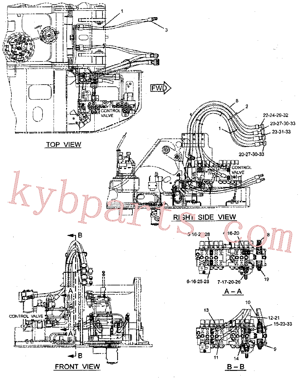 CAT 282-5868 for 328D LCR Excavator(EXC) hydraulic system 277-0867 Assembly