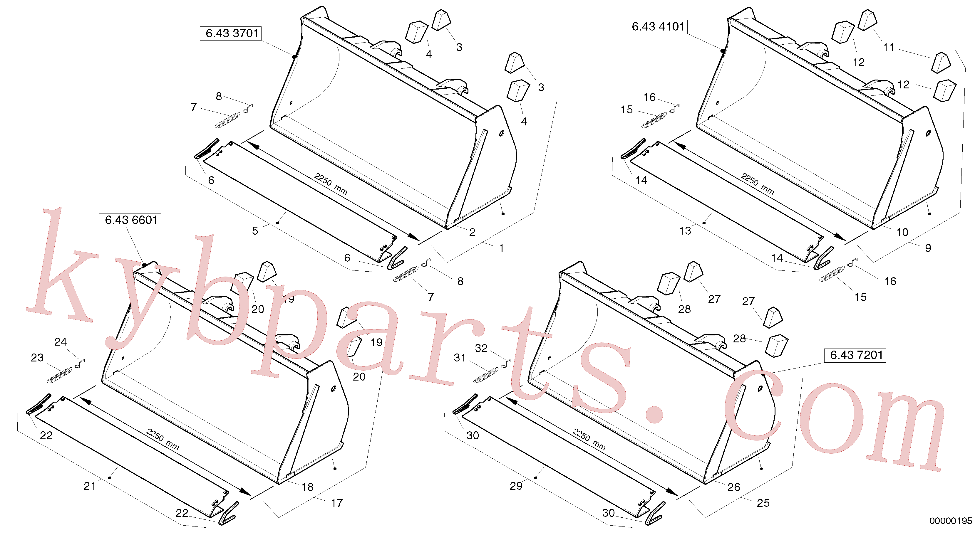 ZM4414702 for Volvo Bucket without teeth - Tpv(00000195 assembly)