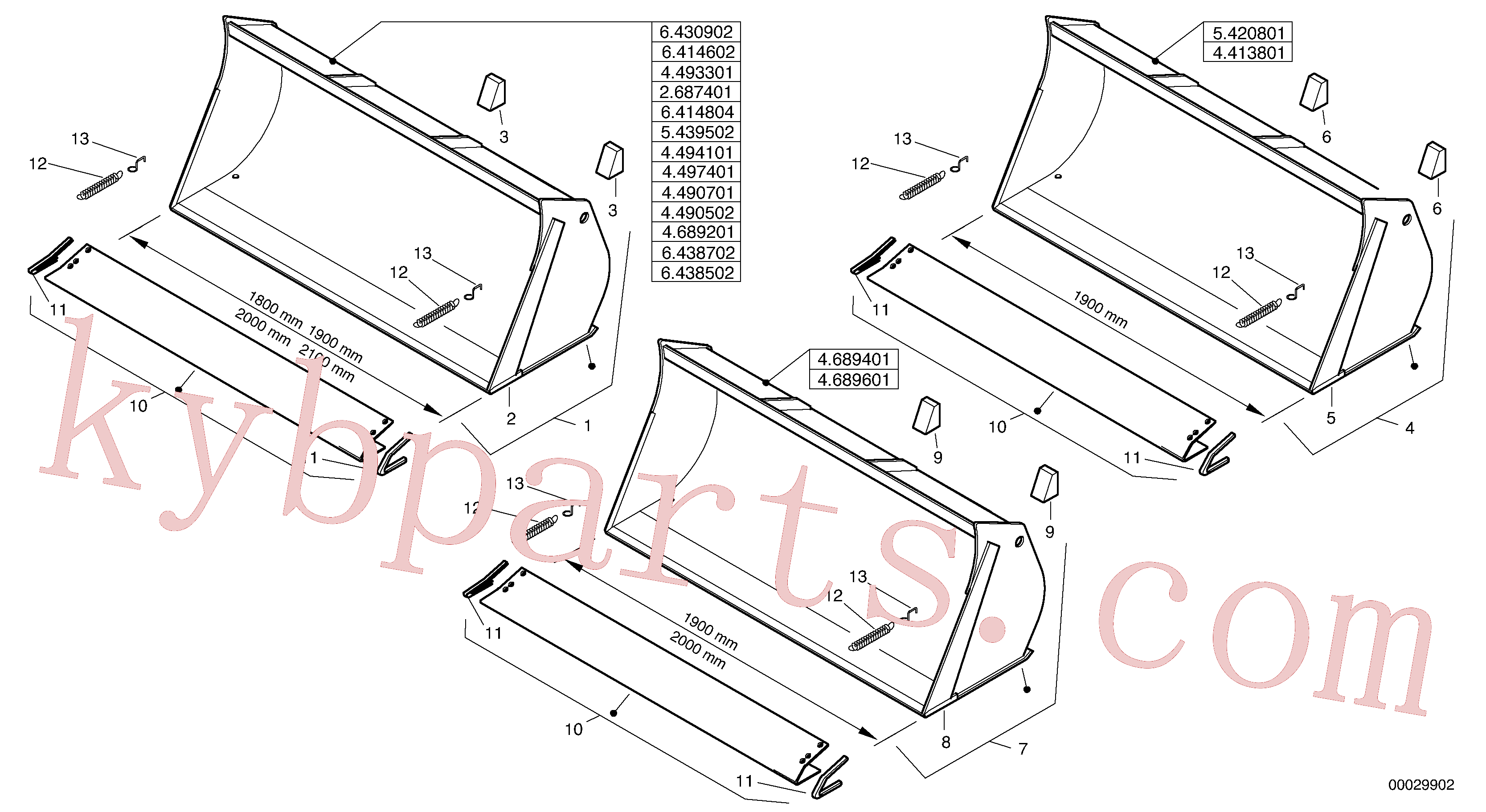 ZM2813408 for Volvo Bucket without teeth(00029902 assembly)