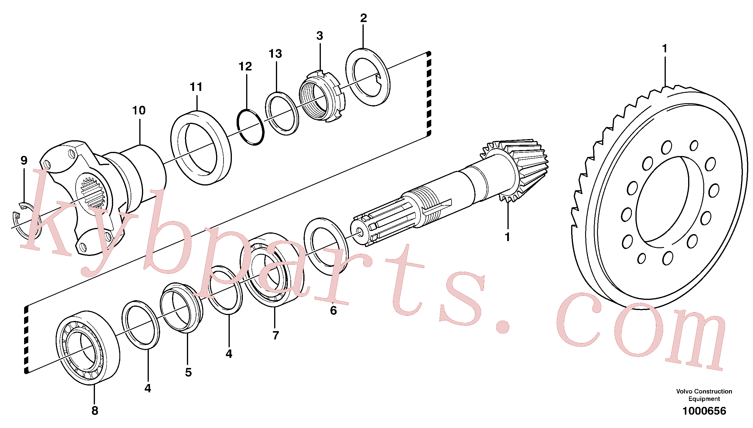 VOE11709288 for Volvo Pinion(1000656 assembly)