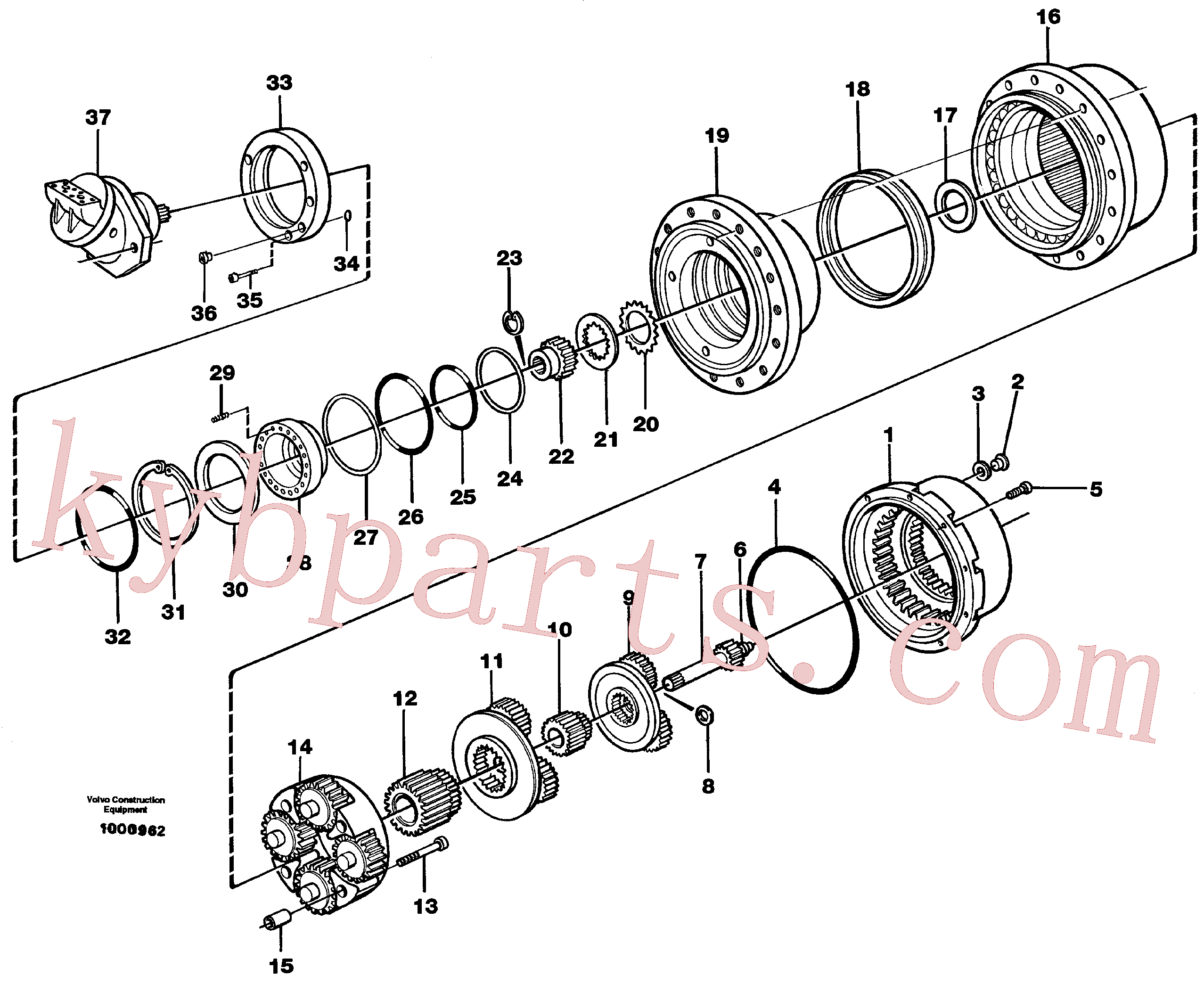 SA8230-22120 for Volvo Planetary gear, travel(1000962 assembly)